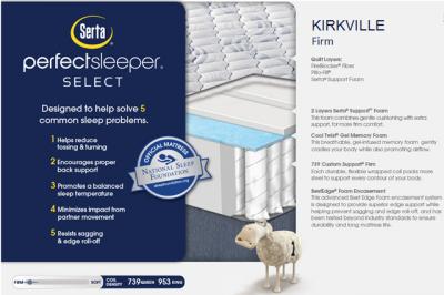 SERTA PERFECT SLEEPER KIRKVILLE FIRM