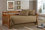 Solid Khaki Daybed Comforter Set