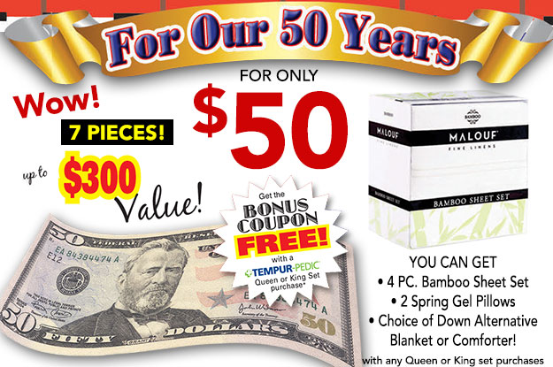 $50 Bonus Coupon