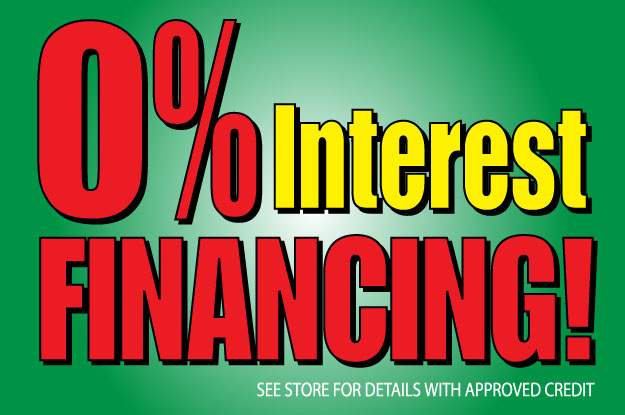 0% Financing Special